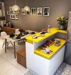 26 Trendy Kitchen Design Ideas For Your Home This Year Modern kitchen ideas. Kitchen Sets, Living Room Kitchen, Home Decor Kitchen, New Kitchen, Kitchen Modern, Dining Rooms, Design Kitchen, Design Bathroom, Kitchen Colors