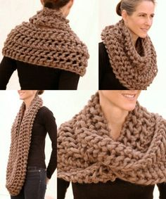 I have got to make this scarf that claire wore in outlander! Super chunky, super easy - 26 Cozy DIY Infinity Scarves With Free Patterns and Instructions Knit Or Crochet, Crochet Scarves, Crochet Shawl, Crochet Crafts, Crochet Projects, Diy Crafts, Crochet Clothes, Knitting Scarves, Hand Crochet