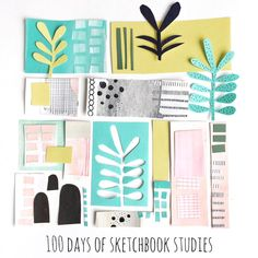 The #the100dayproject has begun! I am participating once again because how could I not? A great community, loads of creativity and a whole lotta crazy. It's fun! I will be continuing on with my #sketchbook_studies project, working small, exploring colors, shapes, textures and too many ideas!