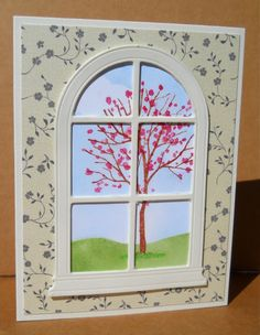 Spring Window Scene by susanbri - Cards and Paper Crafts at Splitcoaststampers