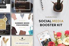 Social Media Booster Kit by PixelBuddha on @creativemarket