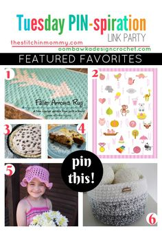 Our Featured Favorites - Tuesday PIN-spiration Link Party http://oombawkadesigncrochet.com/2016/12/featured-favorites-tuesday-pin-party.html