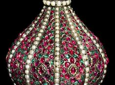 . silver and gold rosewater sprinkler. North India, 17th/18th century