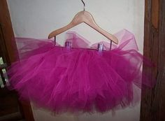 "vermillion rules: The Extremely Detailed Tutu Tutorial ---uses 3 layers of 4-6"" wide tulle at a time"