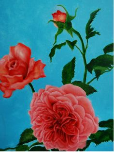 ENGLISH ROSES. A STUDIO Oil on Panel by Sara Calcagno, Italian Painter based in Montalcino (Siena), Tuscany. www.saracalcagno.it #roses #englishroses #antiqueroses #saracalcagno #italianpainter #painter #oilpainting #italianart #art