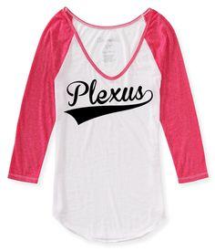 Large - Plexus 3/4 Sleeve Baseball Tee (Pink) (2027634212014CMA) by ShepherdDesignsInc on Etsy https://www.etsy.com/listing/215107304/large-plexus-34-sleeve-baseball-tee-pink