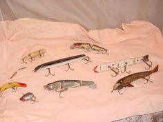 Vintage Antique Creek Chub Pikie Fishing Lures Mixed LOT As Is for Parts #UnbrandedGeneric