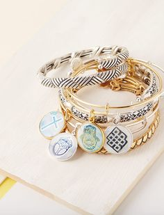 ALEX AND ANI Art Infusion Collection | Spring 2016 | Expandable Charm Bangle