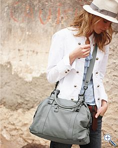 Kenneth Cole Cross-Body Leather Satchel  $198.00