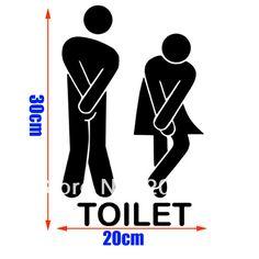Tamaño grande de la moda el cuarto de baño 1 logotipo patrón de pvc cuarto de baño o el dormitorio o de vidrio etiqueta de la pared decoración de hogar( 30*20cm)