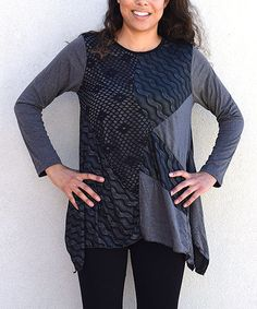 Another great find on #zulily! Gray Wave Patchwork Tunic #zulilyfinds