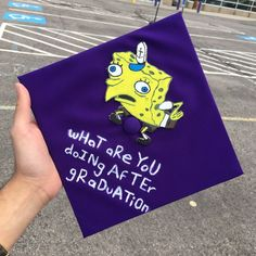 Graduation is considered as one the vital and important most ladder in a student's life. After graduation, you come up with huge reputation and this step can change your life all in once. Here are 30 graduation quotes cap. Disney Graduation Cap, Funny Graduation Caps, Graduation Cap Toppers, Graduation Cap Designs, Graduation Cap Decoration, Graduation Diy, Funny Grad Cap Ideas, Graduation Invitations, Decorated Graduation Caps