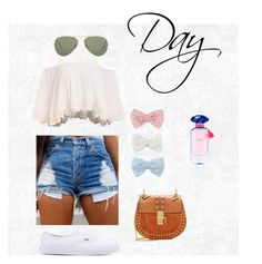 """""""Summer day"""" by sonjamueller ❤ liked on Polyvore featuring Victoria's Secret, Decree, Ray-Ban, Vans and Chloé"""