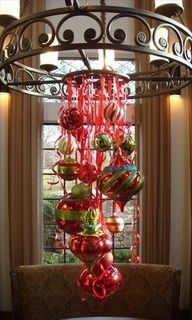 Easy decoration idea for over a table & attached to a light fixture/ chandelier #Christmas #thanksgiving #Holiday #quote