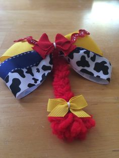 Jesse toy story hair bow by BownitosMonitos on Etsy