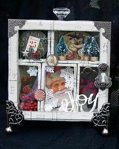 christmas shadow box! Fun!!!
