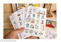 7321 Diary Doodle Stamp Stickers (16 sheet)