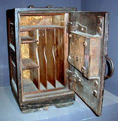 Safes in 19th century england  made out of wood.