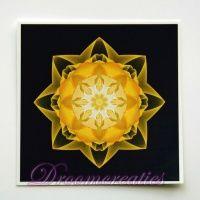 Meditatiekaart Stardust gold 9 x 9 cm - www.droomcreaties.nl