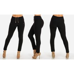 Junior's /Spandex Stretchy High-waist Skinny Pants
