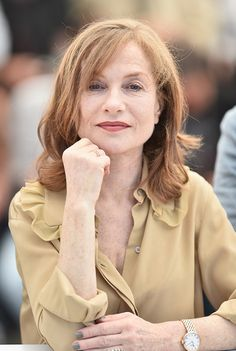 Isabelle Huppert attends the 'Elle' Photocall during the 69th annual Cannes Film Festival at the Palais des Festivals on May 21 2016 in Cannes France