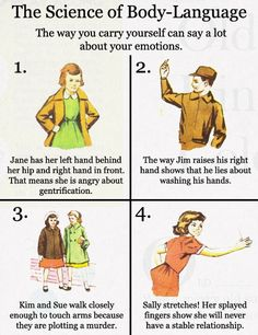 Body Language Explained - Cheezburger It's weird because I want the hypothetical wardrobe of Jane the anti-gentrificationist.