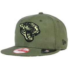 New Era Jacksonville Jaguars Sgt Patch 9FIFTY Snapback Cap ($32) ❤ liked on Polyvore featuring men's fashion, men's accessories and men's hats