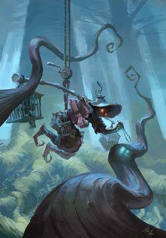 ArtStation - The Alchemist, Pedro Krüger Garcia Character Concept, Character Art, Concept Art, Character Design, Fantasy World, Fantasy Art, Neko, Character Illustration, Illustration Art