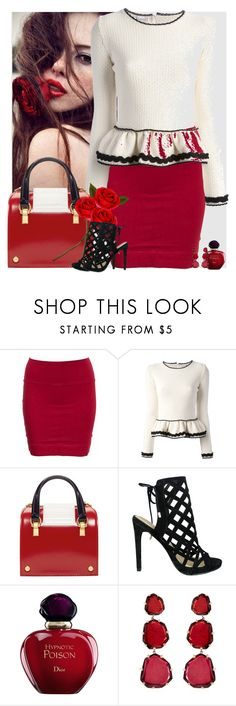 """Bez naslova #3268"" by gita016 ❤ liked on Polyvore featuring FACES Beautiful, Clothes Effect, RED Valentino, Thom Browne, Iris, Christian Dior and Annoushka"