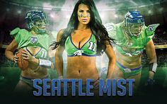 Seattle mist LFL #seattle #lfl Ladies Football League, Football Girls, Football Soccer, Football Players, Seattle Mist, Lingerie Football, Legends Football, Washington State, Cheerleading
