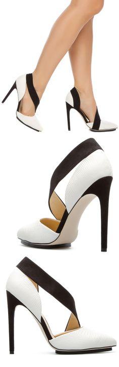 GX | black + white heels.