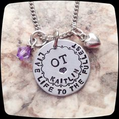 OT Gift, OTA, Occupational Therapy Staff, Rehab Office Professional Jewelry Necklace, Occupational Therapy Gift