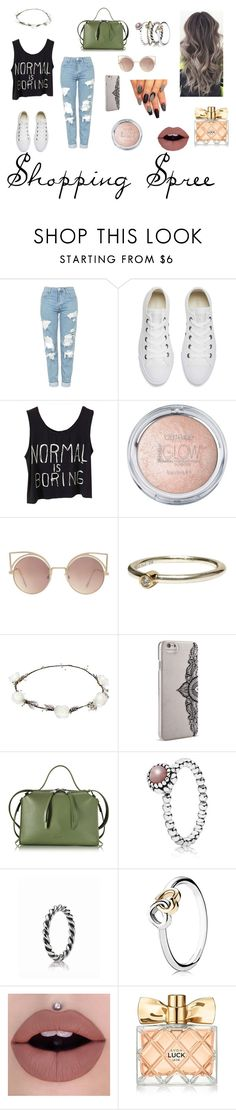 """Shopping spree👗👗👗"" by puddles-6 ❤ liked on Polyvore featuring Topshop, Converse, MANGO, Pandora, Lipsy, Nanette Lepore, Jil Sander and Avon"