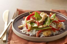Bright with red peppers and snow peas, this Firecracker Chicken Stir-Fry is as good to look at as it is to eat.