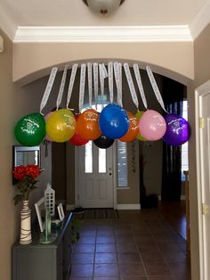 For my 13 year olds birthday party I stuffed cash in 13 balloons and blew them up. I took some crate paper and taped it to the ceiling and took care of decorations & present all in one! For Sophie! Birthday Party Ideas For Teens 13th, 13th Birthday Boys, 13th Birthday Parties, Birthday Fun, Birthday Party Decorations, Birthday Crafts, Birthday Nails, Boy Sleepover, Slumber Party Games