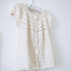 Instant download Crochet Cardigan PATTERN pdf by monpetitviolon