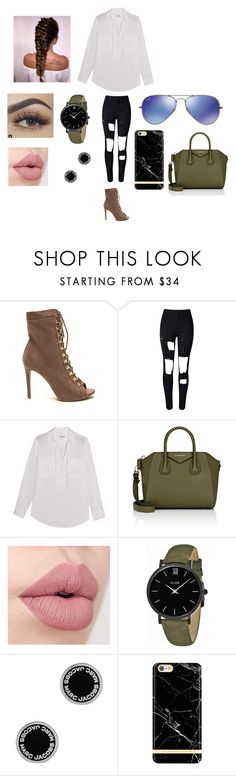 """""""Oui."""" by dreaming-of-a-better-tomorrow ❤ liked on Polyvore featuring WithChic, Equipment, Givenchy, CLUSE, Marc Jacobs, Richmond & Finch and Ray-Ban"""