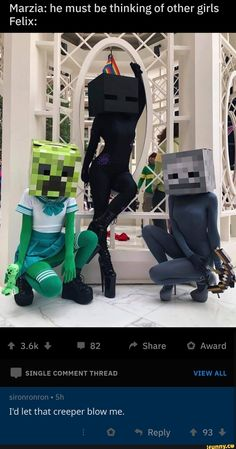 wholesome minecraft memes love - minecraft love memes , wholesome minecraft memes love , cute love memes minecraft , minecraft reaction memes love , i love you memes minecraft Minecraft Costumes, Minecraft Art, Minecraft Creations, Minecraft Memes, Dark Humour Memes, Dankest Memes, Most Famous Memes, Funny Images, Funny Pictures