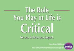 What role are you playing in your life right now?  http://www.parententrepreneursuccess.com/pep161