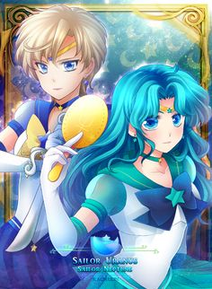 Eternal Sailor Uranus & Eternal Sailor Neptune fan art