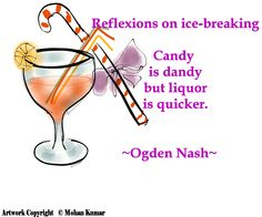 Reflexions on ice-breaking by Ogden Nash