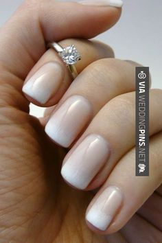 Like this - Wedding Nails 2015 - Gradual French manicure - nice and very natural (never understood why they call it French, I never saw anyone in France with a French manicure).   CHECK OUT SOME GREAT PHOTOS OF NEW Wedding Nails 2015 OVER AT WEDDINGPINS.NET   #weddingnails2015 #weddingnails #nails #boda #weddings #weddinginvitations #vows #tradition #nontraditional #events #forweddings #iloveweddings #romance #beauty #planners #fashion #weddingphotos #weddingpictures