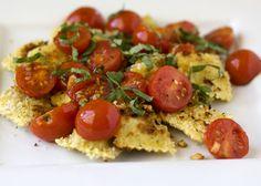 Crisp Ravioli with Quick Roasted Tomato Sauce