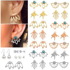 Vintage Platinum S925 Sterling Silver CZ Cubic Zirconia Stud Earrings Crystals Rhinestone Bohemian Drop Dangle Earrings Hypoallergenic Earrings for Women Teen Girls Ears Cuff Earrings Valentines Day