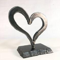 Metal Heart Scrap Metal Art Scrap art Metal Art Steampunk Valentines Day Sculpture by MergeWorkshop on Etsy