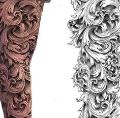Leg Sleeve Tattoo, Best Sleeve Tattoos, Tattoo Sleeve Designs, Half Sleeve Tattoos For Men, Zeus Tattoo, Leg Tattoos Women, Best Tattoos For Women, Tattoos For Guys Leg, Filagree Tattoo