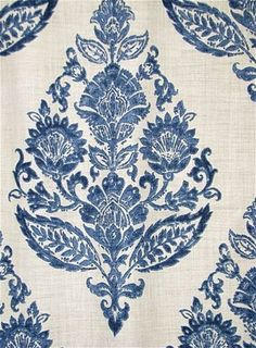 Lydia 519 Antique Blue - Jennifer Adams decorator fabric for window treatments, furniture upholstery or top of the bed. Textiles, Textile Patterns, Print Patterns, Funky Furniture, Colorful Furniture, Furniture Upholstery, Painted Furniture, Coaster Furniture, Cheap Furniture