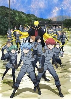 New visual for Assassination Classroom Season 2! And the trio are holding hands! Why do I find that so cute? - DA | Assassination Classroom