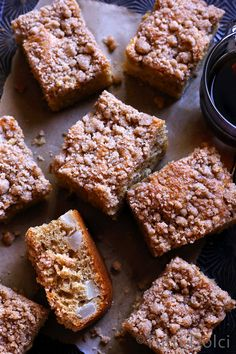 Brown Butter Pear Crumb Cake