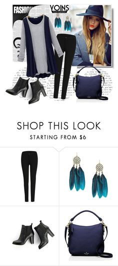 """""""YOINS 5"""" by fashionb-784 ❤ liked on Polyvore featuring SWEET MANGO, Kate Spade, women's clothing, women's fashion, women, female, woman, misses, juniors and yoins"""